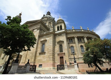 St. Stephen's Basilica, a Roman Catholic Cathedral in Budapest, Hungary, Europe. Famous landmark of the Eastern European  capital.