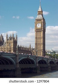 St. Stephen's Tower, otherwise known as Big Ben at the Palace of Westminster, London