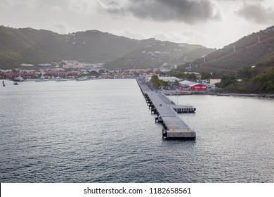 ST. THOMAS, U. S. VIRGIN ISLANDS - JUNE 7, 2016: Havensight is said to be the busiest cruise ship port in the world, and is located in Long Bay, St. Thomas, U.S. Virgin Islands.