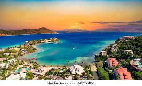 St Thomas US Virgin Islands Drone Aerial