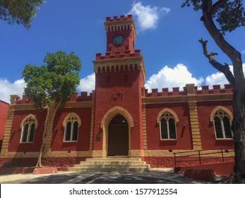 St Thomas, Virgin Island / Caribbean Feb 2015 Fort Christian is a Dano-Norwegian-built fort in Charlotte Amalie, Saint Thomas, U.S. Virgin Islands. Built 1672-1680