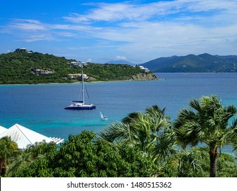 St. Thomas/USVI-11/2/16: The beautiful beach behind the The Ritz Carlton hotel which is a Time share in St. Thomas, USVI..