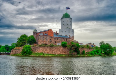 St. Olaf's Tower in Vyborg Castle. Vyborg, Russia.