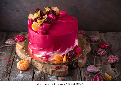 St Valentines Day Mothers Birthday Cake A Festive Dessert In The