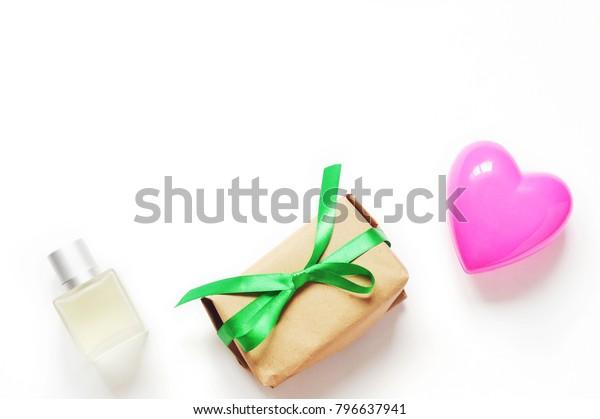 St Valentines Day Present Womens Perfume Stock Image