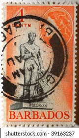 ST VINCENT AND THE GRENADINES - CIRCA 1908: A stamp printed in St Vincent and the Grenandines shows image of Horatio Nelson, series, circa 1908