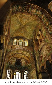 St. Vitale basilica church byzantine mosaic, Ravenna, Italy