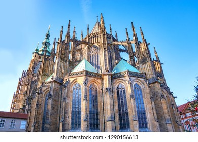 St. Vitus Cathedral -  gothic Castle in Prague, Czech Republic