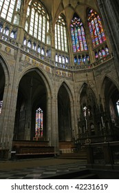 St. Vitus Cathedral interiors, Prague, Czech Republic