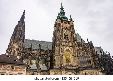 St. Vitus Cathedral, located in the grounds of the Prague Castle. Czech Republic, Europe.