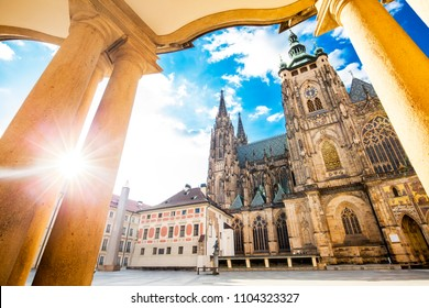 St Vitus cathedral in Prague, travel photo