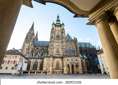 St. Vitus is a Roman Catholic cathedral situated in the Prague Castle complex, and the seat of the Archbishop.