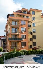 St. Vlas, Burgas / Bulgary - August 2917: Siana apartments