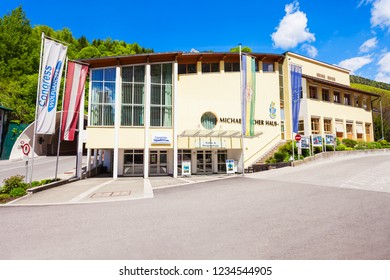 ST WOLFGANG, AUSTRIA - MAY 17, 2017: Michael Pacher Haus or house in the centre of St Wolfgang im Salzkammergut, Austria