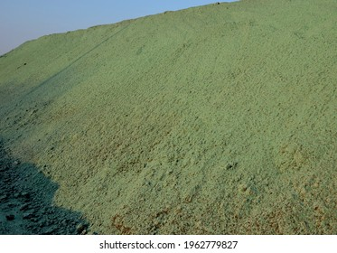 stabilization of slopes by hydro sowing. a mixture of wood pulp and green grass seed is sprayed from the tank directly onto the bare soil. creates a crust and germinating seed
