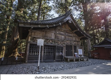 Stable of Three wise monkeys of Tosho gu,Nikko, Japan - 21 May 2015: It is a Shinto shrine located in Nikko, Tochigi Prefecture. It is National Treasures of Japan and Important Cultural Properties.