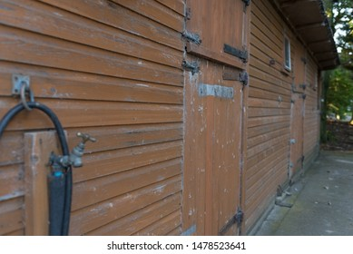 stables wooden  barn for horses