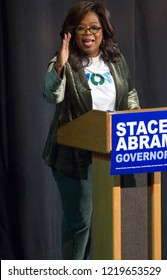 """Stacey Abrams """"Get Out to Vote"""" -  with Oprah Winfrey on November 1st, 2018 at the Cobb Civic Center in Georgia - USA Jennie T. Anderson Theatre."""