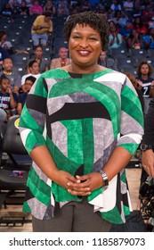 Stacey Abrams -in Atlanta Georgia - USA , 8/31/2018 at the McCamish Pavillion on Georgia Tech Campus