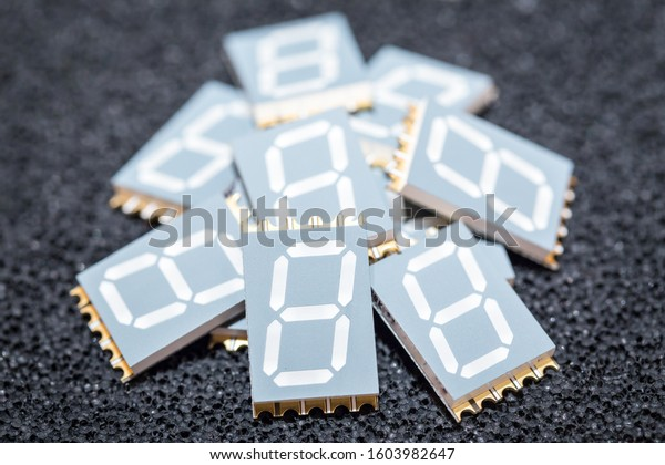 Stack of 7-segment LED diplay, SMd technology