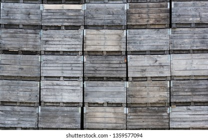 Stack of agricultural procuce packing/shipping crates.