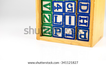 Stack Alphabet Block Letters Numbers Cube Stock Photo Edit Now