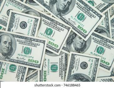 Stack of american dollars