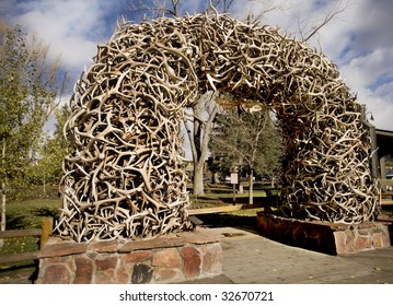 Stack of Antlers from the Elk Wildlife Reserve in Wyoming