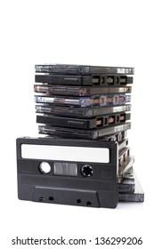 Stack audio cassettes