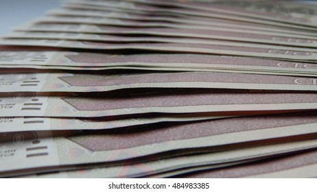 A stack of banknotes Rubles