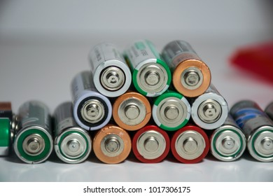 Stack of batteries powering the future of renewable energy and energy density of electrical storage technology