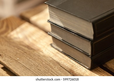 Stack of  bible.