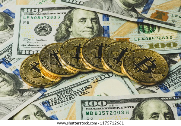 Stack Bitcoin Us Currency Notes Stock Photo (Edit Now) 1175712661