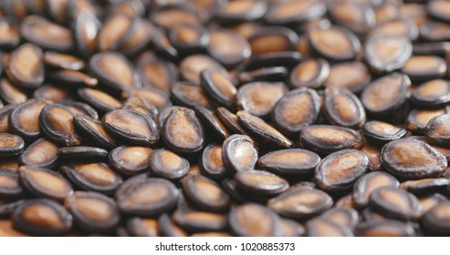 Stack of Black Melon Seeds