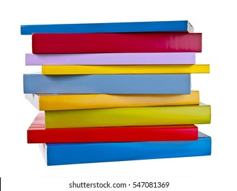 Stack of blank colorful books