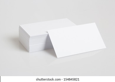 Stack Of Blank White Businesscards