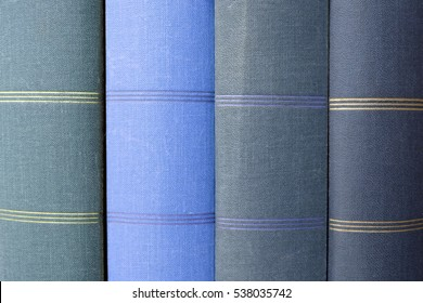 stack of blue books, book covers / photo books