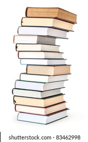 stack of book isolated on white