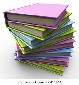 stack of books 3d illustration