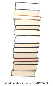 Stack of books isolated