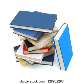 Stack of books isolated on white background or back to school
