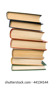 Stack of books. Isolated on white background.