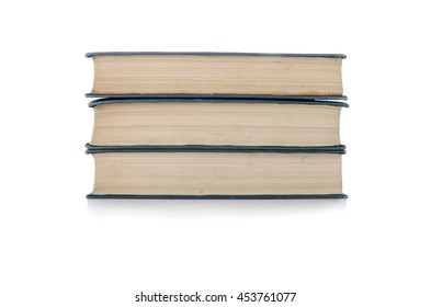 Stack of books isolated the white background