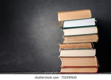 Stack of books on the table