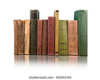 Stack of books on the white background