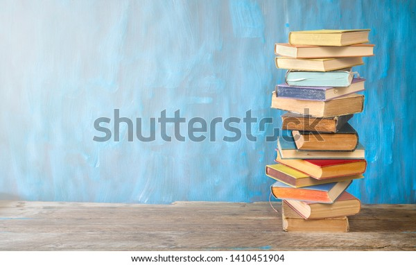 Stack Books Reading Learning Education Concept Stock Photo