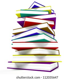 Stack Of Books Represents Learning And Education
