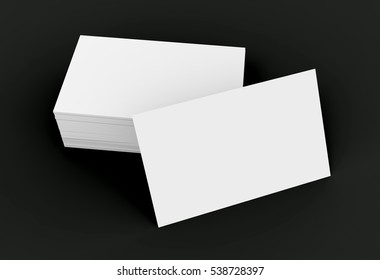 Stack business card template blank unfilled stock illustration stack of business card template blank unfilled card for edited isolated on black background flashek