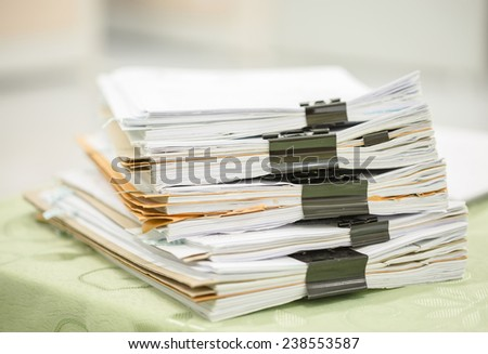 stack business report paper files black stock photo edit now