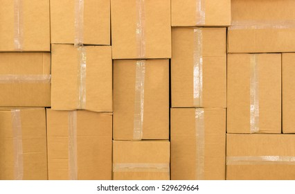 stack up of cardboard boxes for background